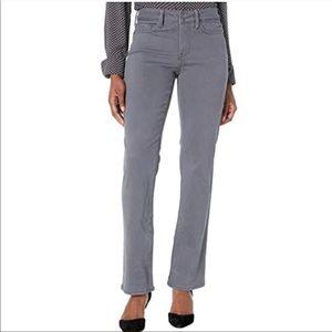 $119 NYDJ   Marilyn Straight grey denim jeans